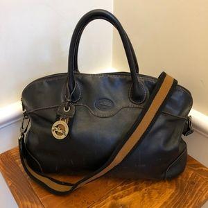 Longchamp Large Black Leather Tote